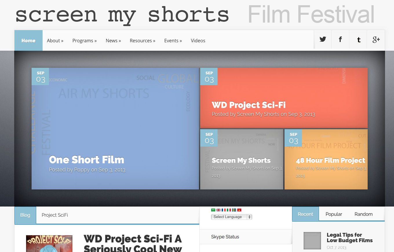 Screen My Shorts